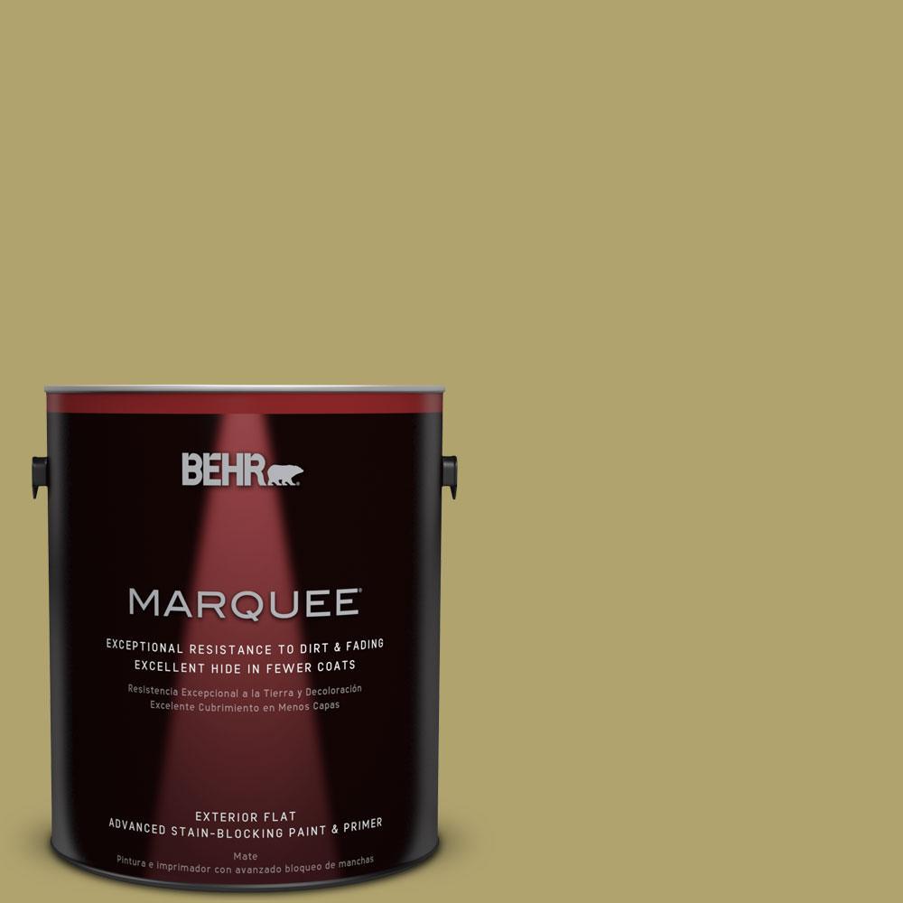 1 gal. #HDC-WR15-10 Green Bean Casserole Flat Exterior Paint