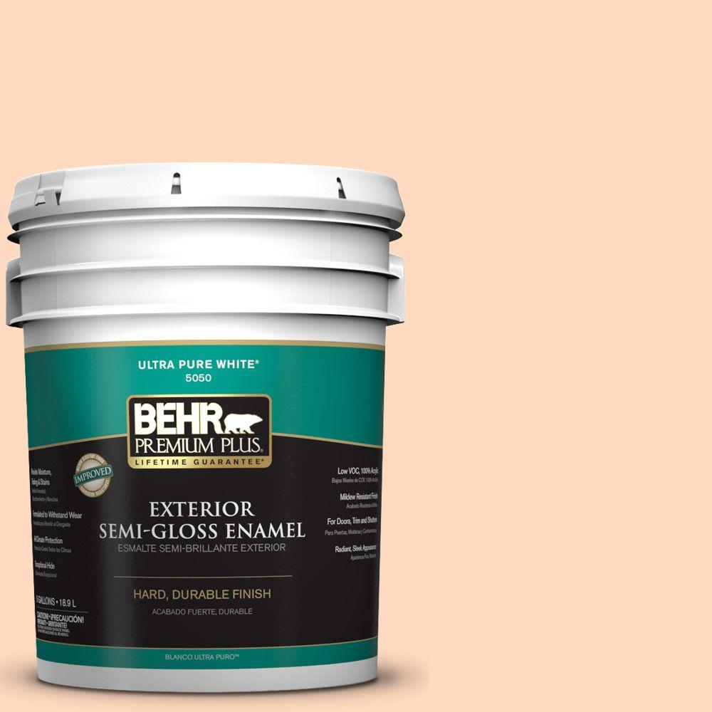 BEHR Premium Plus 5-gal. #P210-2 Citrus Delight Semi-Gloss Enamel Exterior Paint