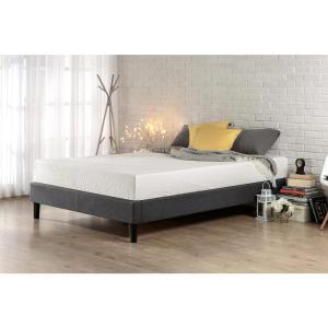 Zinus Essential Queen Upholstered Platform Bed Frame Hd