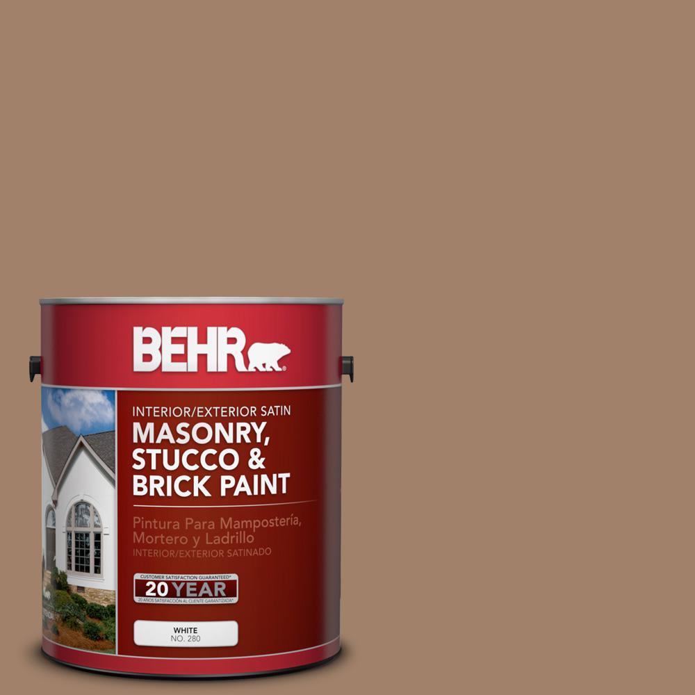 1 gal. #280F-5 New Chestnut Satin Interior/Exterior Masonry, Stucco and Brick Paint