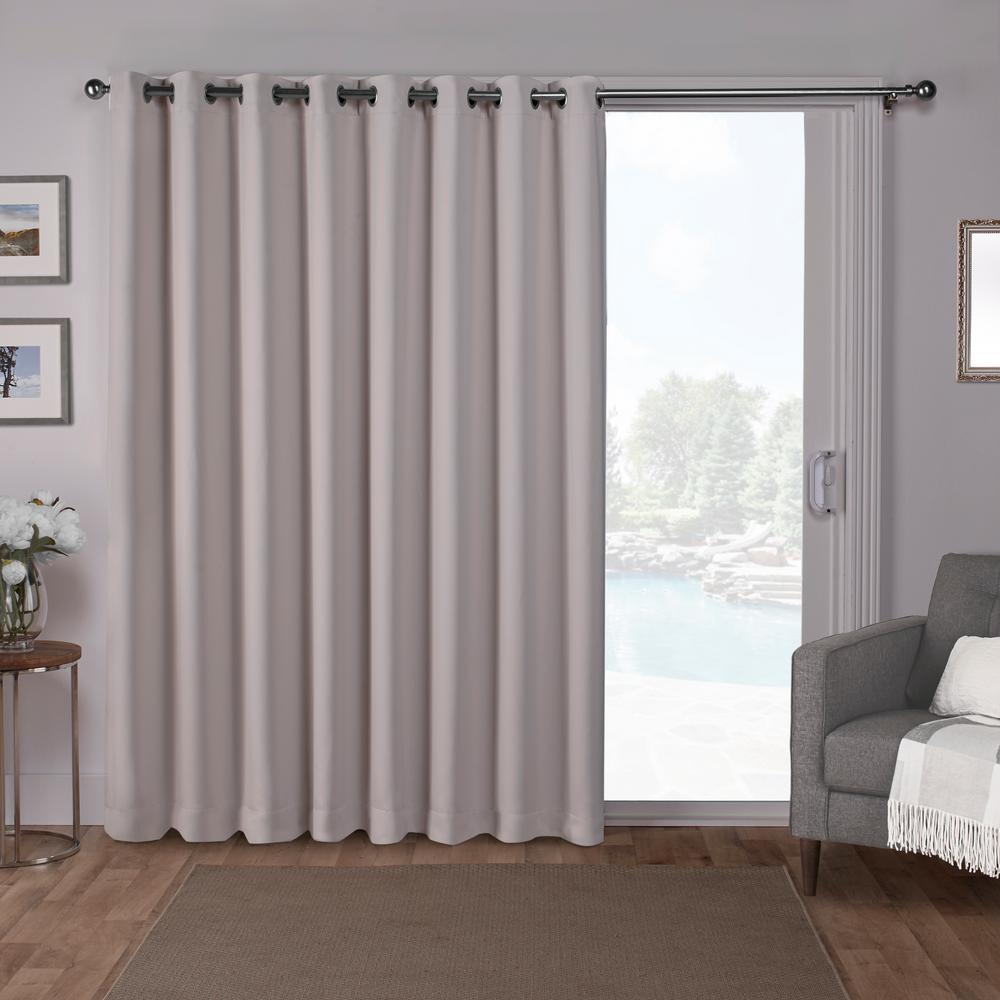 Sa Patio Silver Blackout Grommet Top Wide Window Curtain