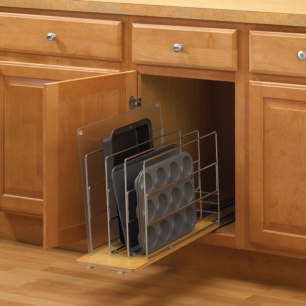 kitchen cabinet caddy knape amp vogt 14 in h x 9 in w 22 in d pull out tray 18292