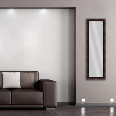 52.25 in. x 16.25 in. Brown Framed Mirror