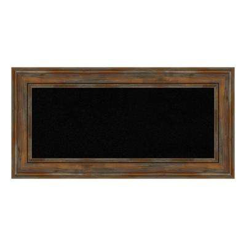 Alexandria Rustic Brown Framed Black Cork Memo Board