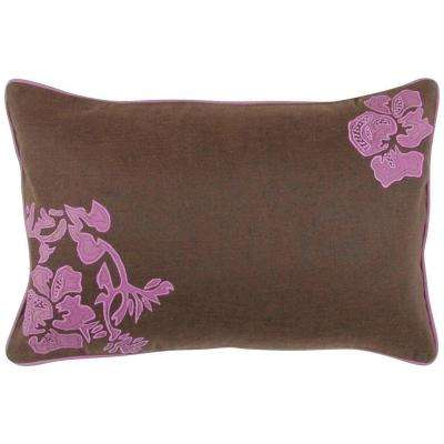 FloraC 13 in. x 20 in. Decorative Down Pillow