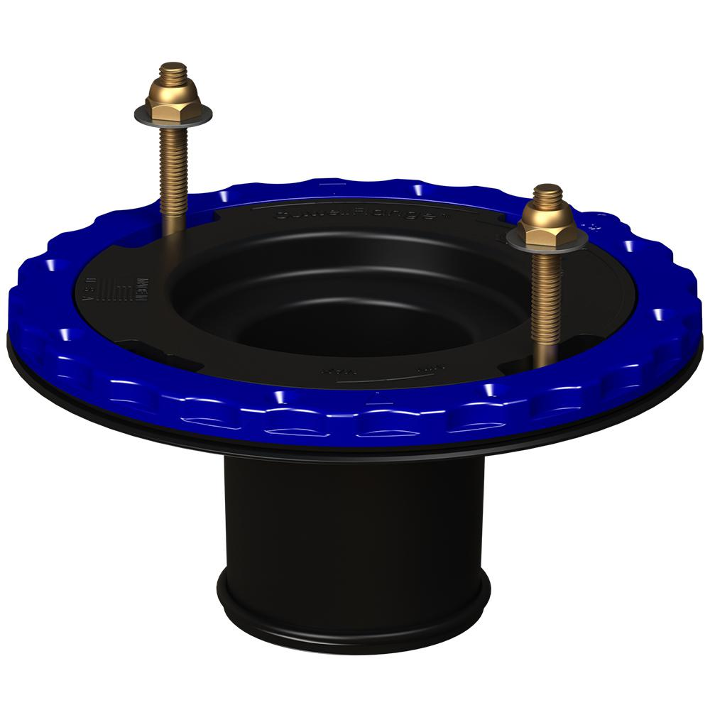 Culwell Flange 3 in  Compression Floor Protecting ABS Toilet Flange in Black