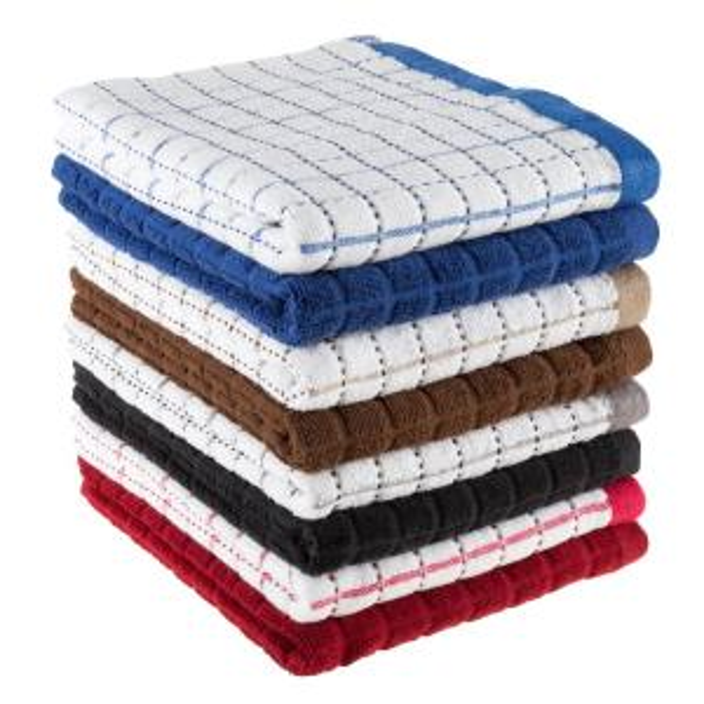 Lavish Home Multi Windowpane Pattern Cotton Kitchen Towels ...