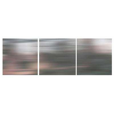 "nexxt 12 in. x 12 in. ""Gray Blurs"" Abstract 3-Panel Canvas Wall Art Set"