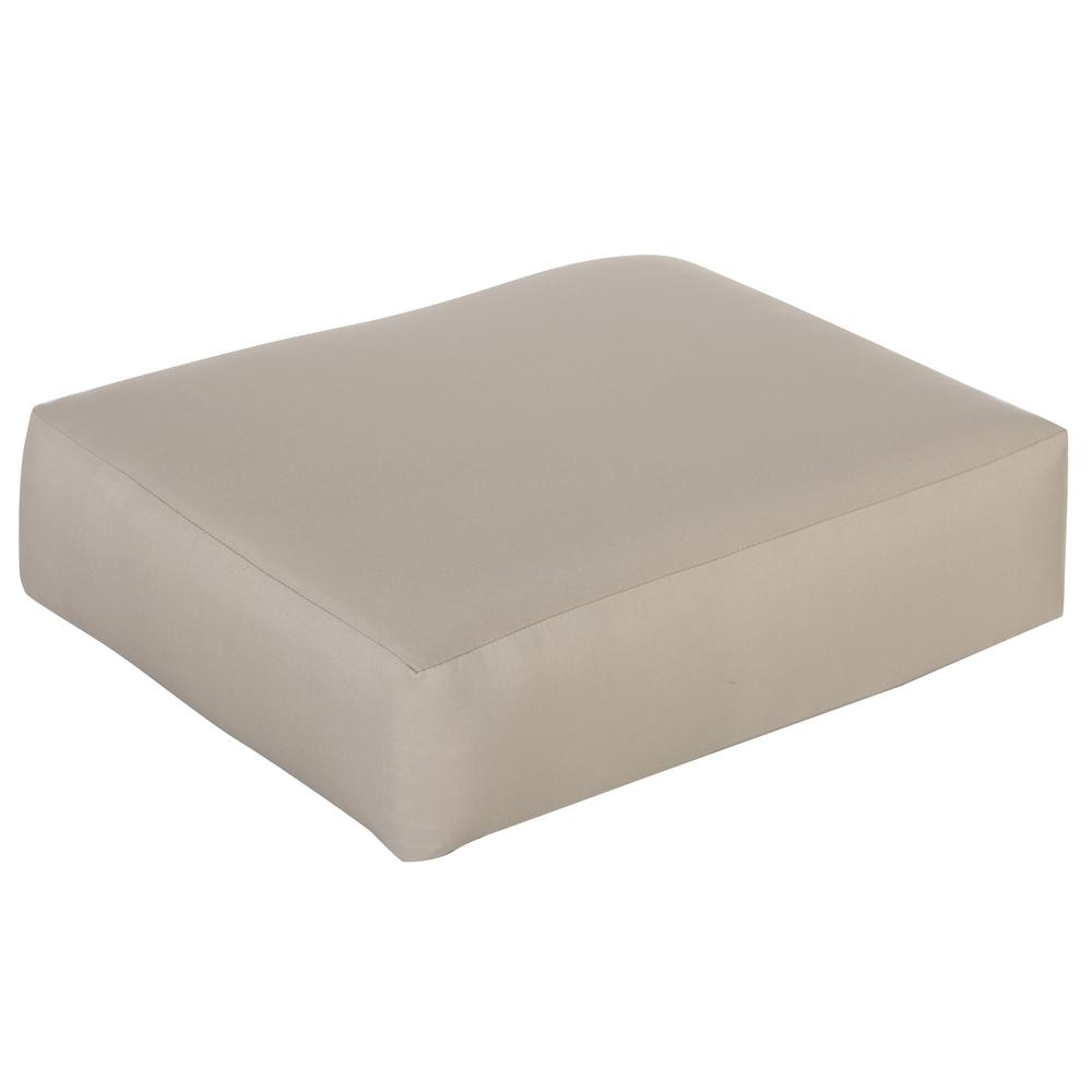 Mill Valley Outdoor Ottoman Cushion in Standard Beige