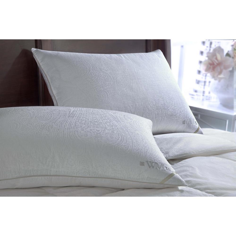 Wesley Mancini Collestion 300TC Yarn Dyed Goose Down Side Sleeper Jumbo Pillow