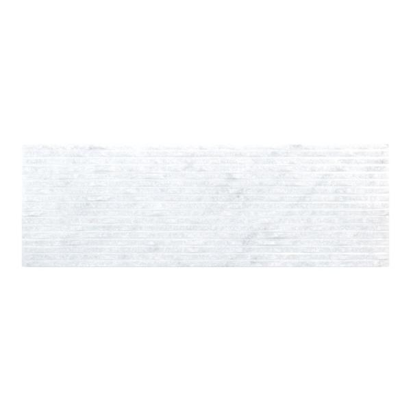 Snow Cap White 4 in. x 12 in. Natural Textured Marble Wall Tile (1 sq. ft. / pack)