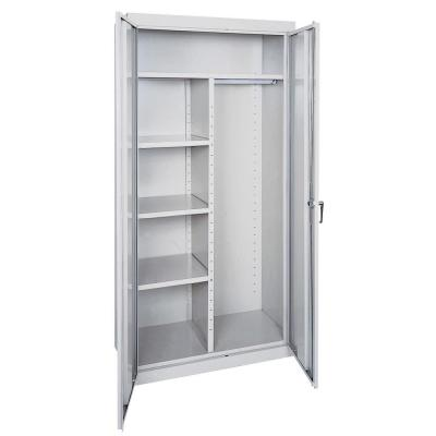 Classic Series 36 in. W x 72 in. H x 24 in. D Combination Storage Cabinet with Adjustable Shelves in Dove Gray