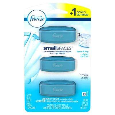 0.54 oz. SmallSpaces Linen and Sky Air Freshener Refills (Pack of 3)