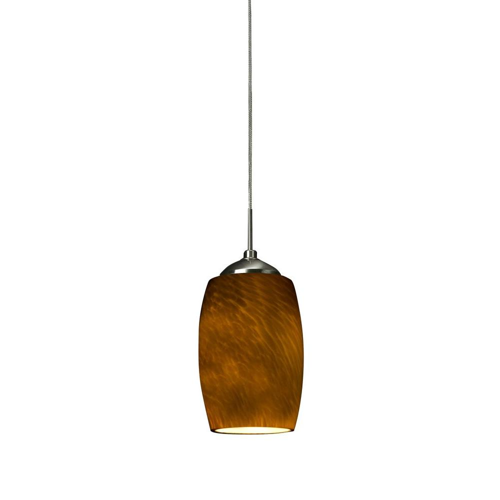 Radionic Hi Tech Orly 1-Light Satin Nickel LED Mini Pendant