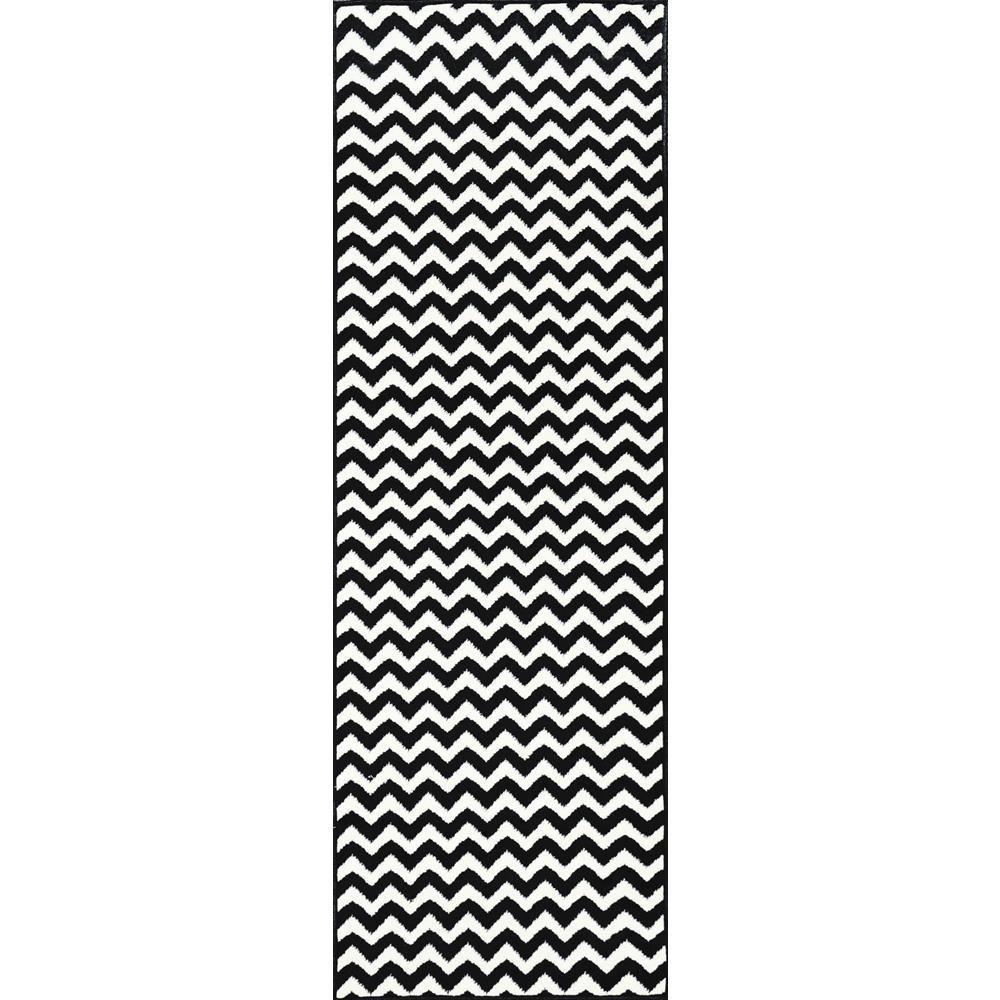 nuLOOM Charles Black 3 ft. x 8 ft. Runner Rug