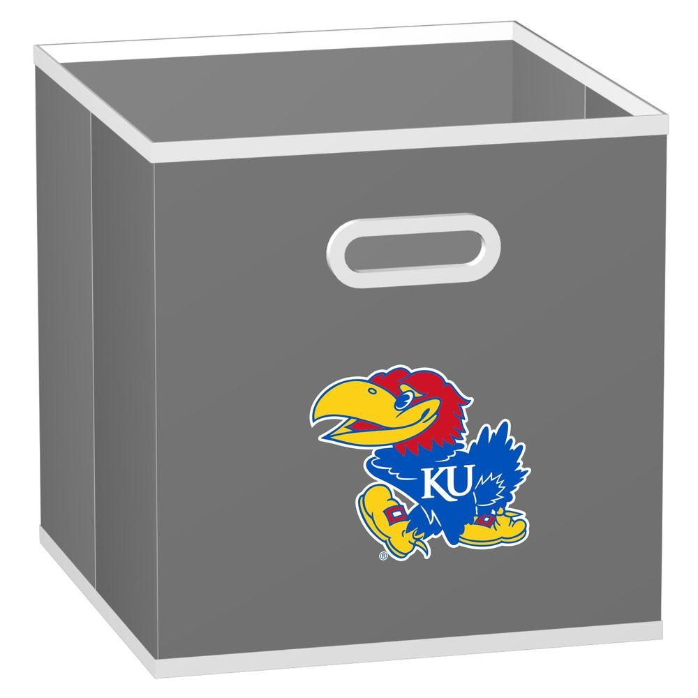 MyOwnersBox College STOREITS University of Kansas 10-1/2 in. x 10-1/2 in. x 11 in. Grey Fabric Storage Drawer