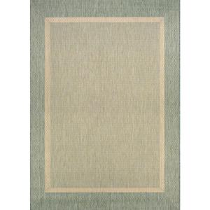 Couristan Recife Stria Texture Natural Green 8 Ft X 11 Ft