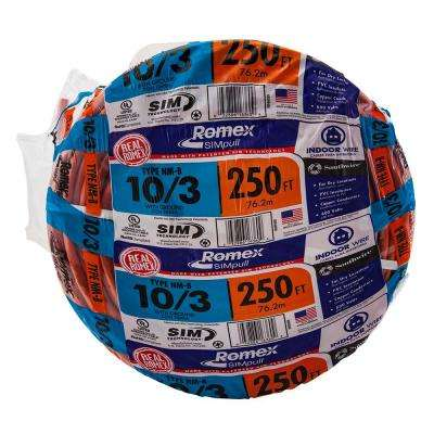 250 ft. 10/3 Solid Romex SIMpull CU NM-B W/G Wire