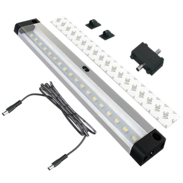 7 in. LED 6000K Black Under Cabinet Lighting with Sensor (No Power Supply Included)