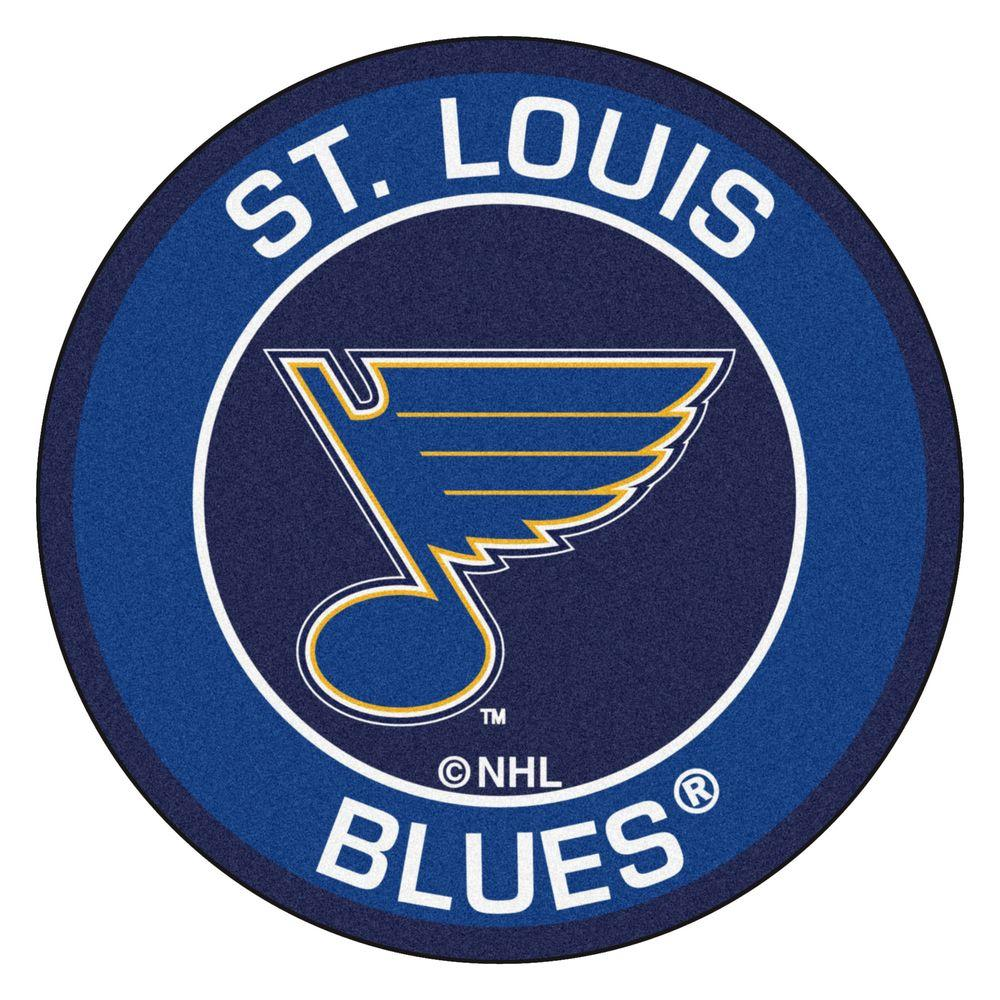 NHL St. Louis Blues Blue 2 ft. x 2 ft. Round Area Rug