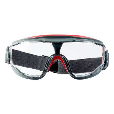 Scotchgard Gray/Red Anti-Fog Goggles with Clear Lens