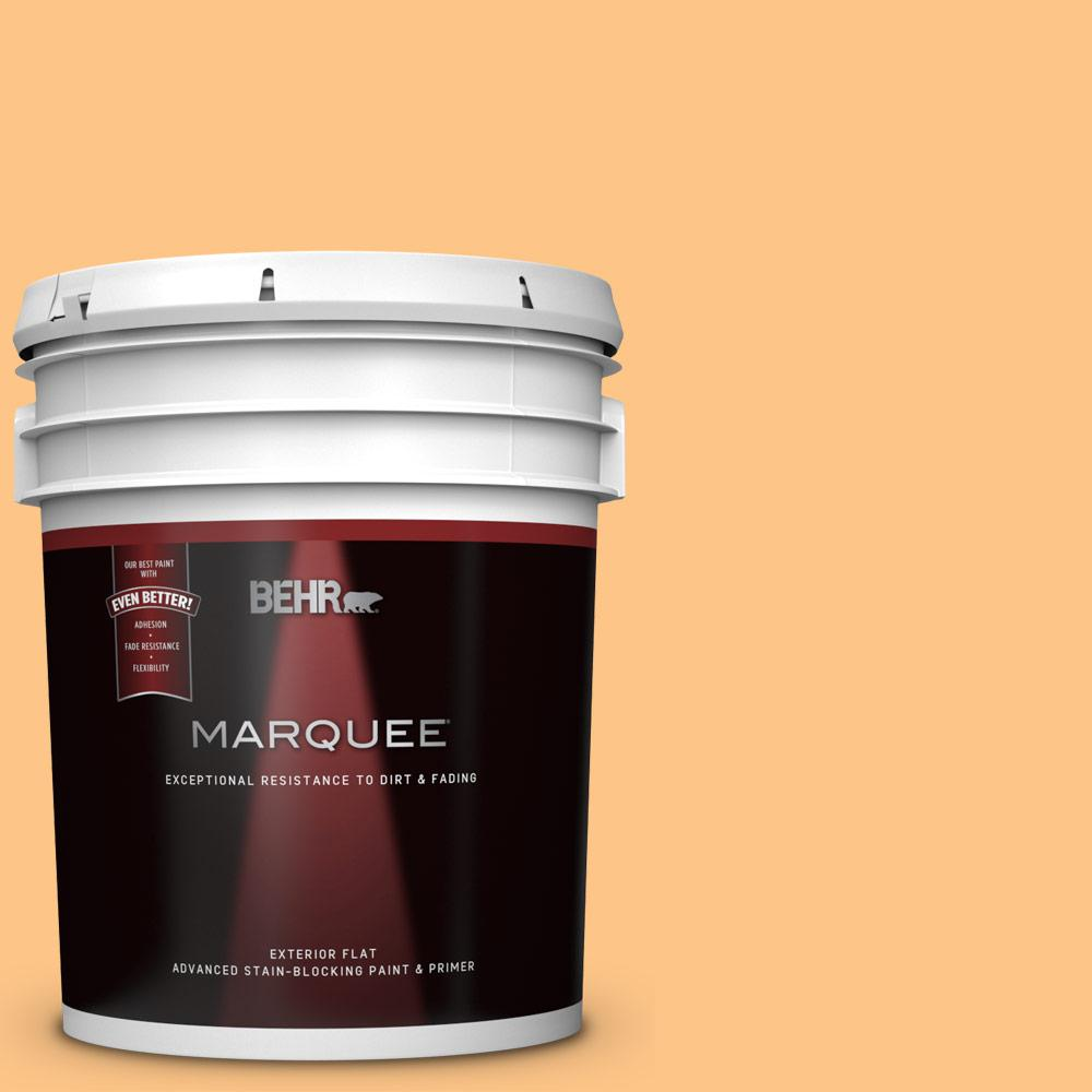 Behr Marquee 5 Gal P240 4 Mango Tango Flat Exterior Paint And Primer In One 445405 The Home Depot