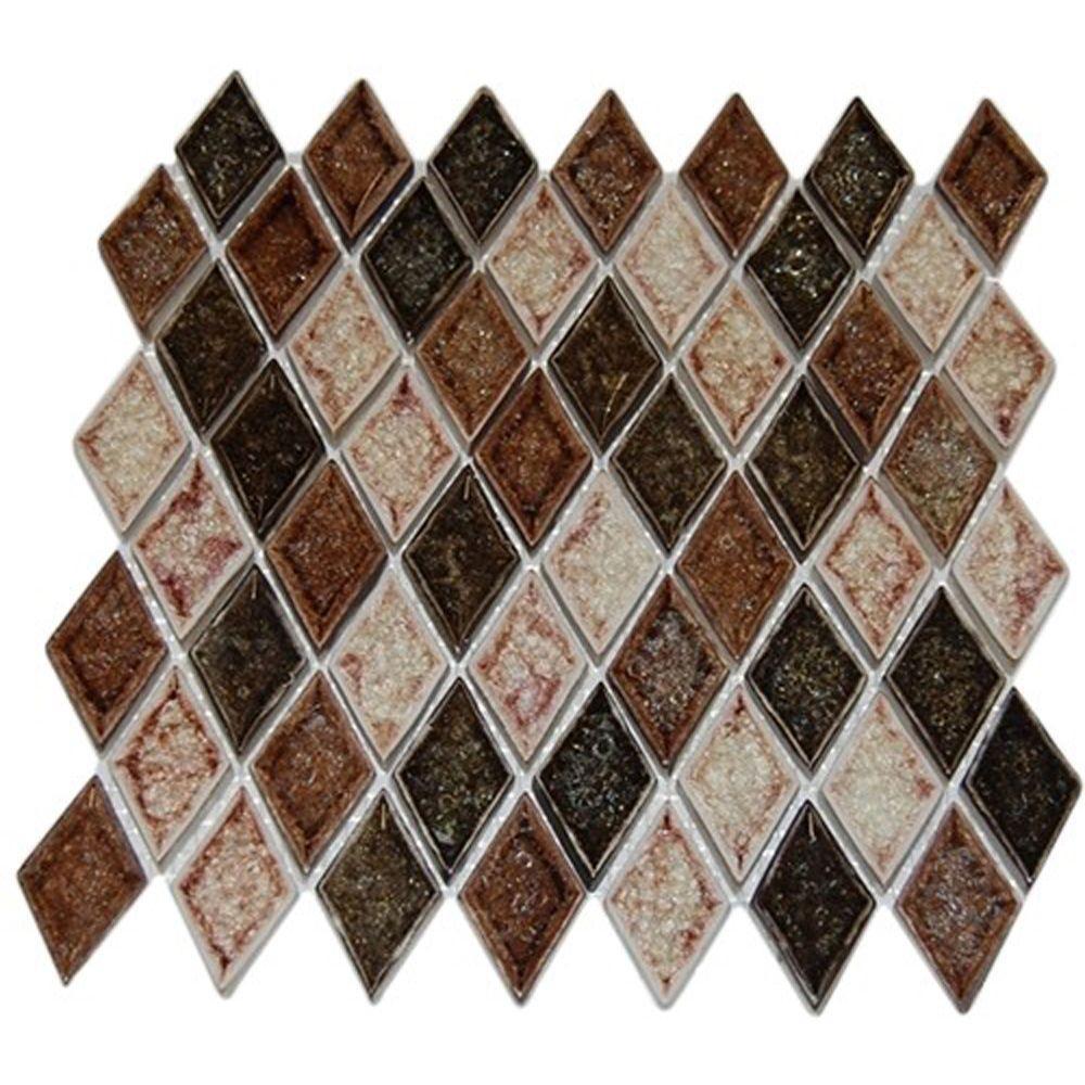 Splashback Tile Roman Selection IL Fango Diamond 12 in. x 12 in. x ...