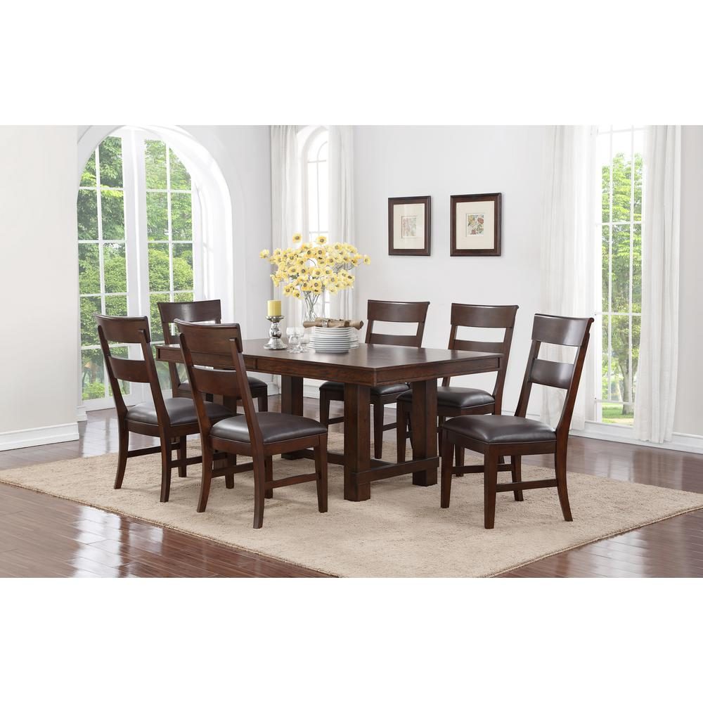 Good Craft + Main Alden 7 Piece Walnut Dining Set