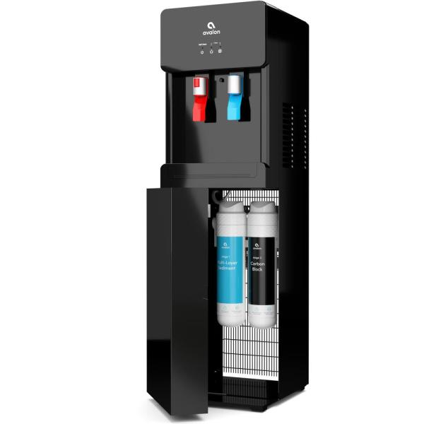 Avalon Self Cleaning Bottle Less Water Cooler Dispenser with Filter Hot/Cold Water Child Safety Lock UL/Energy Star in Black