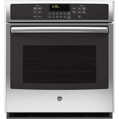 27 in. Single Electric Wall Oven Self-Cleaning with Steam Plus Convection in Stainless Steel