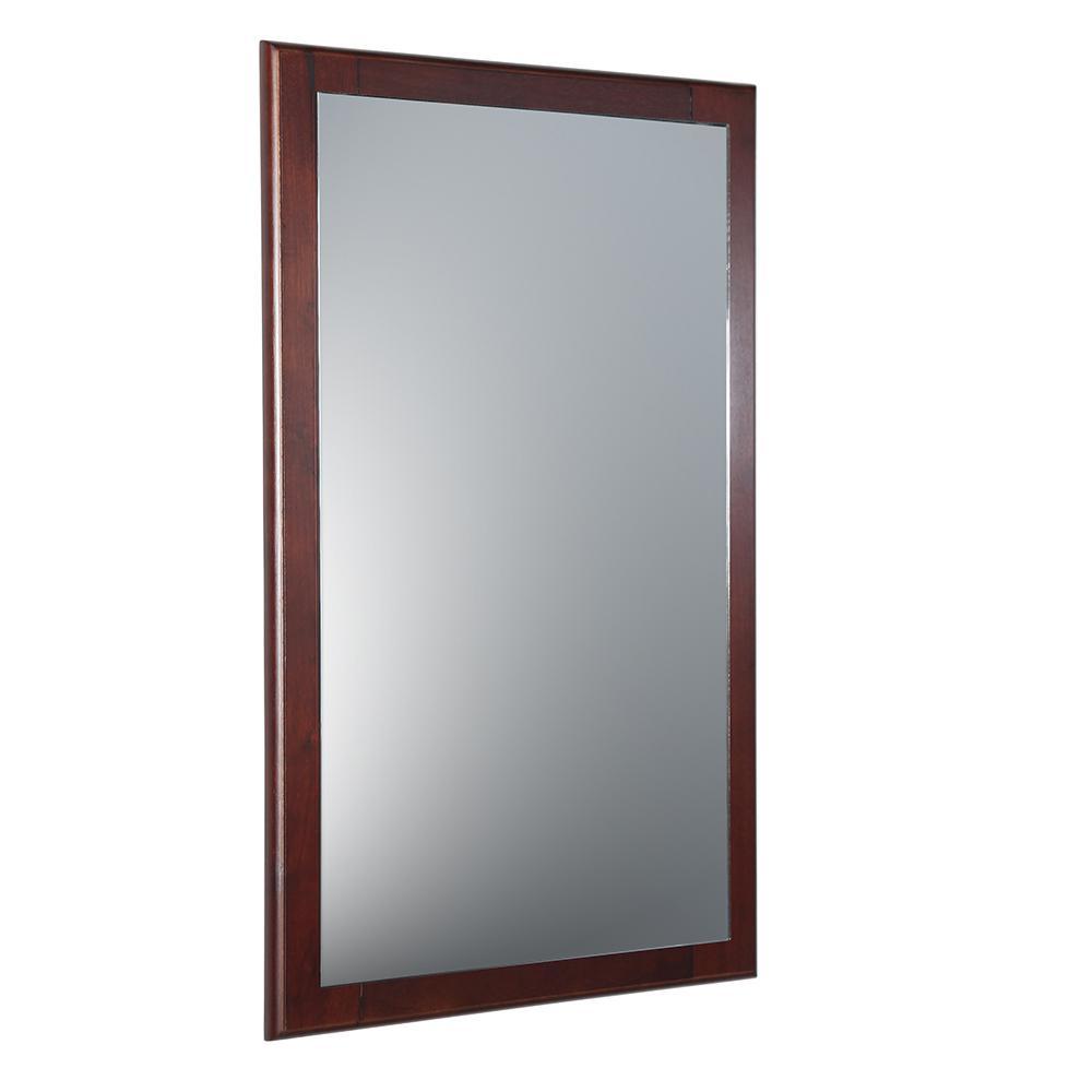 Mahogany Bathroom Mirror: Fresca Oxford 20 In. W X 32 In. H Framed Wall Mirror In