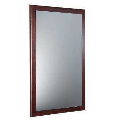 Oxford 20 in. W x 32 in. H Framed Wall Mirror in Mahogany