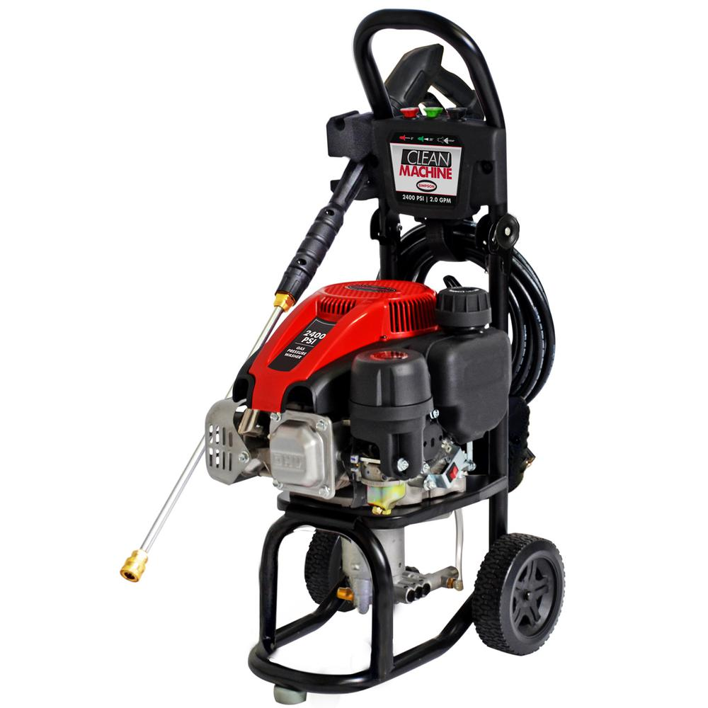 home depot pressure washers clean machine by 2400 psi 2 0 gpm gas 28665