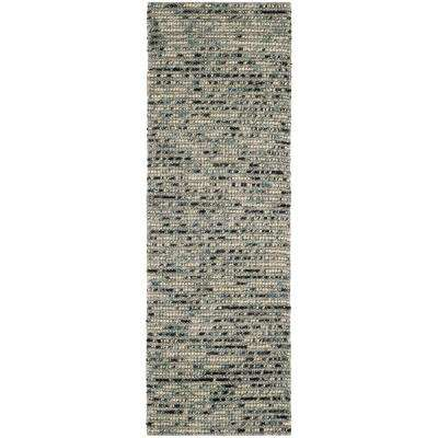Bohemian Gray/Multi 3 ft. x 16 ft. Runner Rug