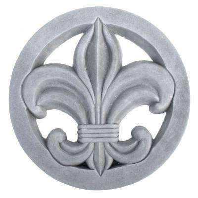 Cast Stone Fleur-De-Lis Stepstone Antique Gray