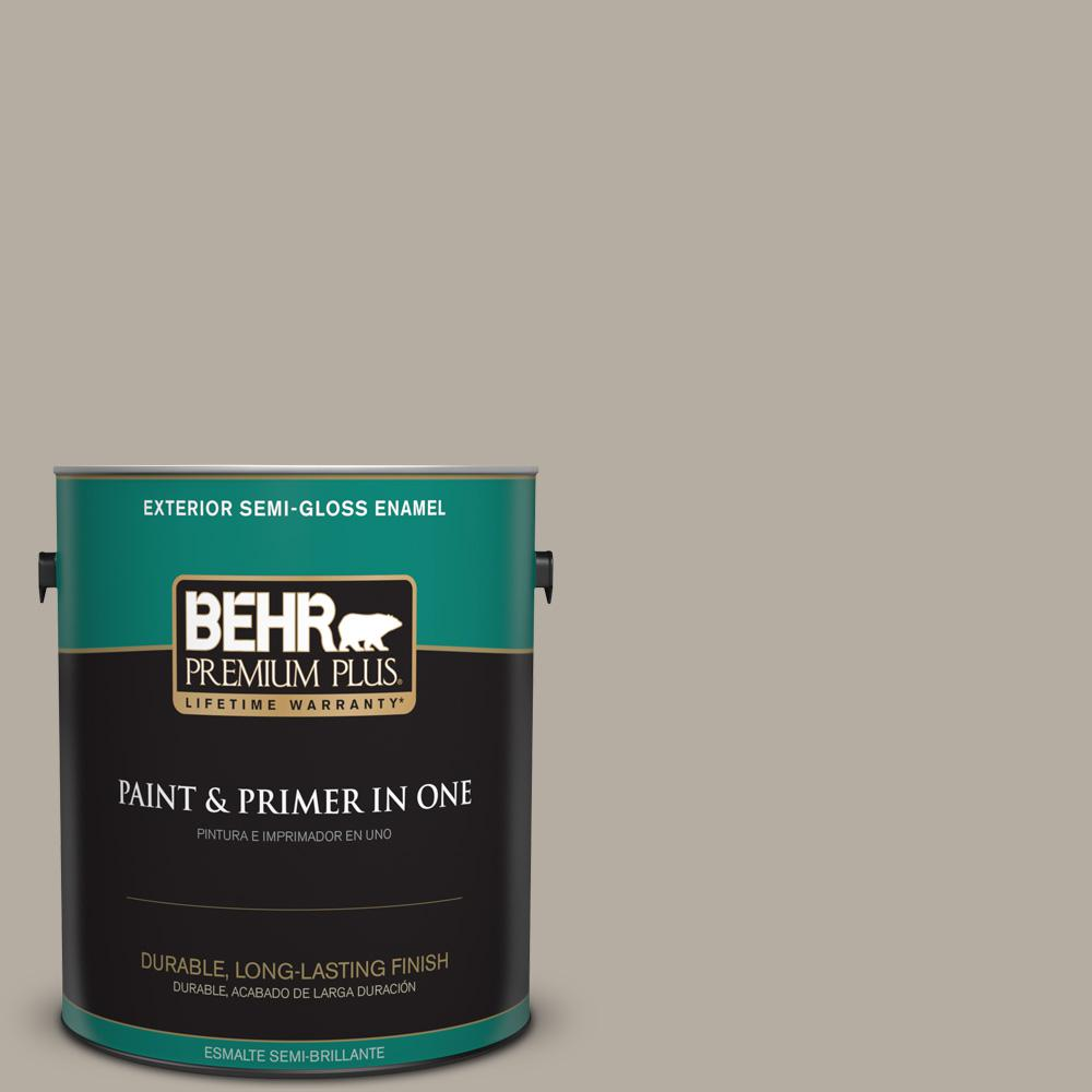 1 gal. #PPU18-13 Perfect Taupe Semi-Gloss Enamel Exterior Paint