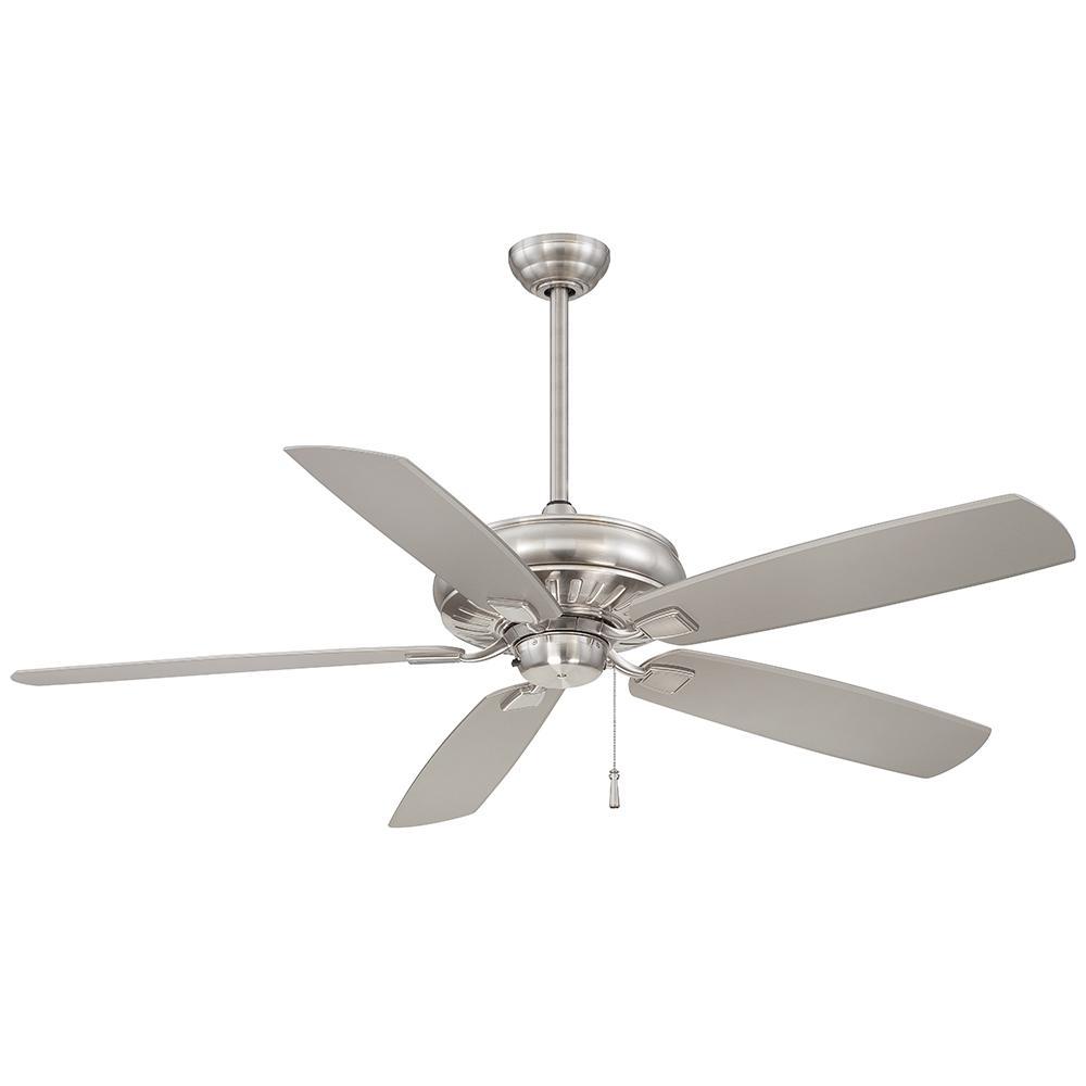 Sunseeker 60 in. Indoor/Outdoor Brushed Nickel Wet Ceiling Fan