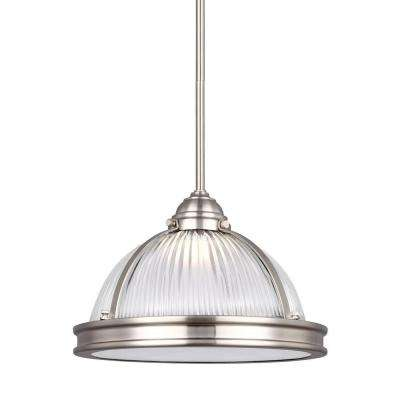 Pratt Street Prismatic 14-Watt Brushed Nickel Integrated LED Pendant