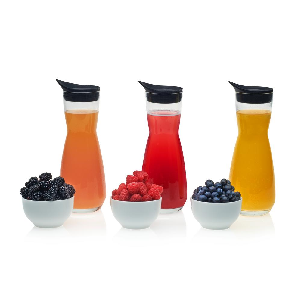 Make Your Own Mimosa Bar 6-piece Carafe and Garnish Bowl Set