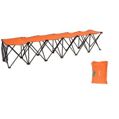 6-Seater Folding Orange Portable Sports Chair