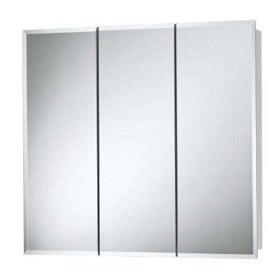 Horizon 24 in. x 24 in. x 5-1/4 in. Frameless Surface-Mount Bathroom Medicine Cabinet with 1/2 in. Beveled Mirror