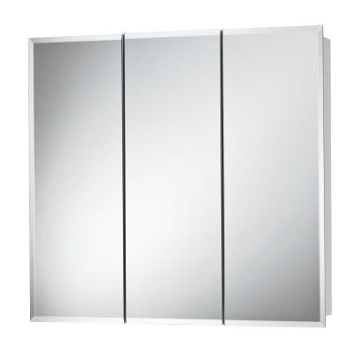 Horizon 48 in. W x 28-1/4 in. H x 5-1/4 in. D Frameless Surface-Mount Bathroom Medicine Cabinet in White