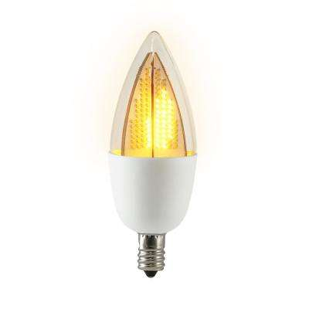 6-Watt Equivalent CA9.5 Flickering Flame LED Light Bulb (1-Bulb)