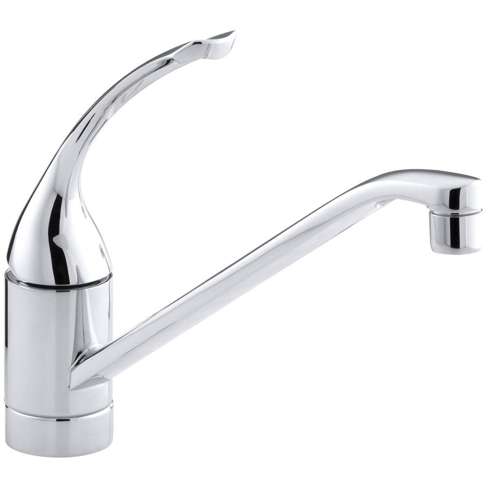 Coralais Low-Arc Single-Handle Standard Kitchen Faucet with Loop Handle in