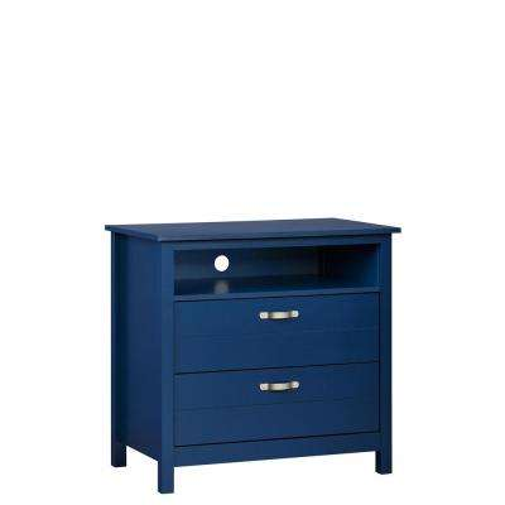 Morgan 2-Drawer Media Blue Dresser