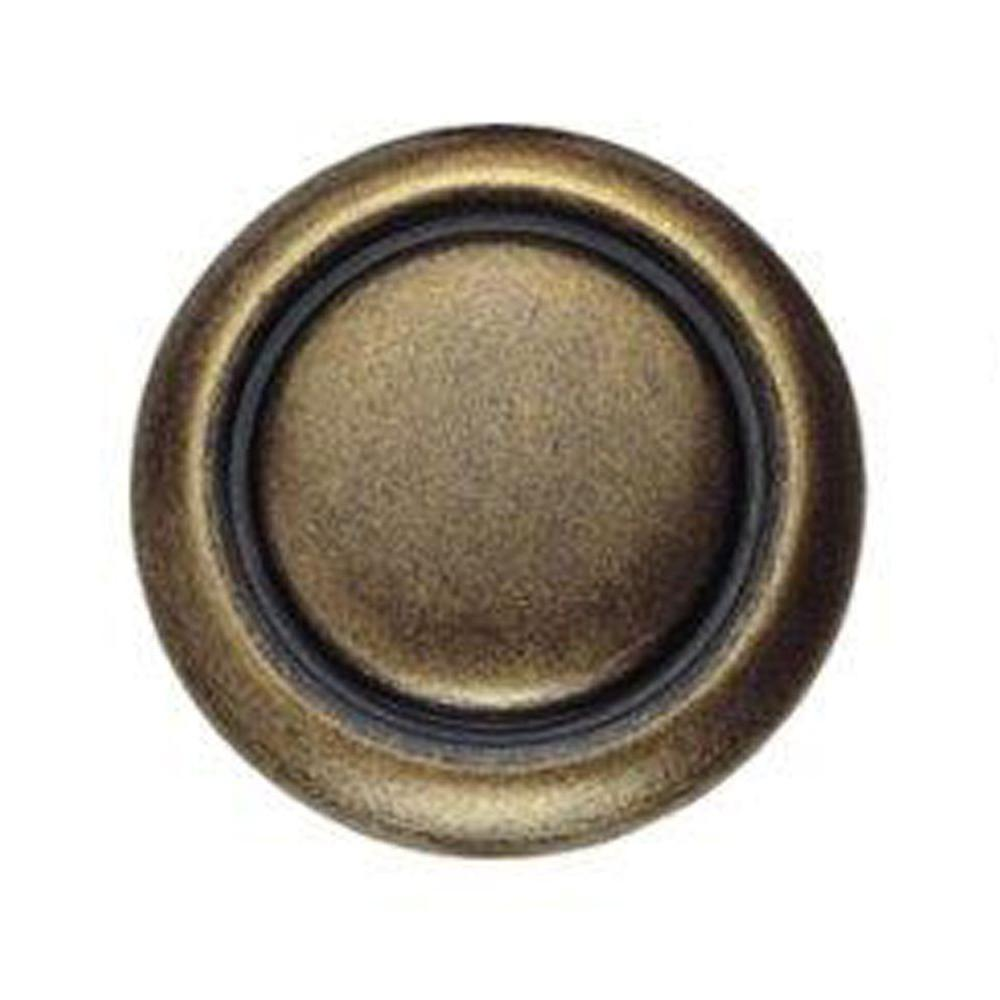 Classic Hardware Bosetti Marella 0.98 in. Antique Brass Distressed Round Knob