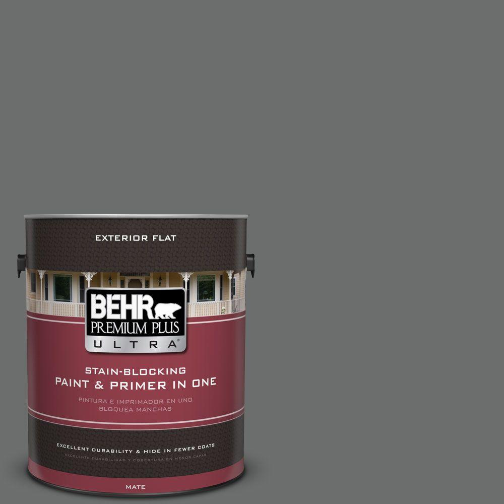 1 gal. #HDC-AC-17A Welded Iron Flat Exterior Paint