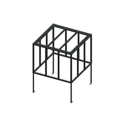 Standard Model 38 in. x 38 in. x Adjustable Height Black AC Security Cage with Hinged Top