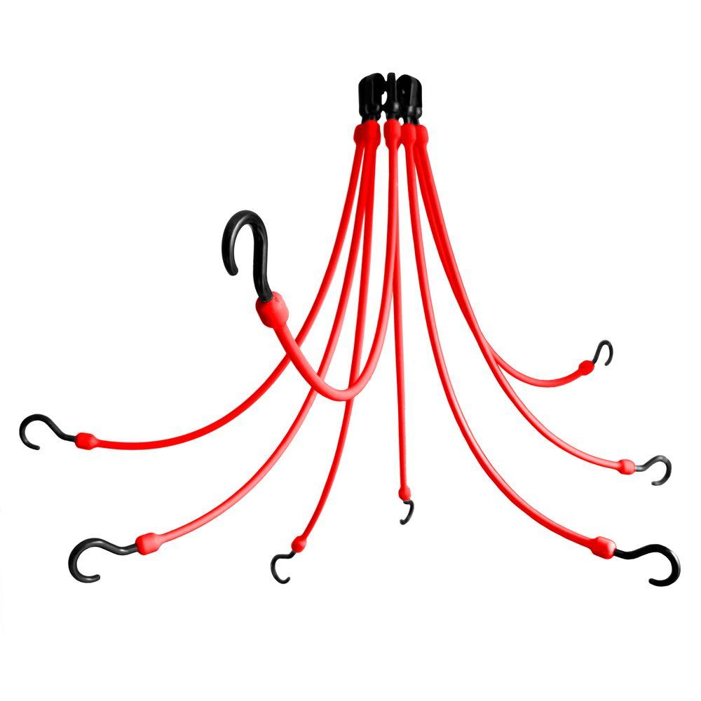 24 in. Polyurethane Flex Web with Eight Arms in Red