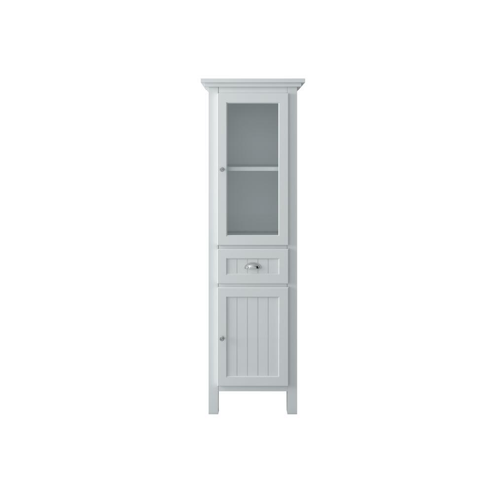 Ridgemore 20 in. W x 65 in. H x 14 in. D Bathroom Linen Storage Cabinet in White